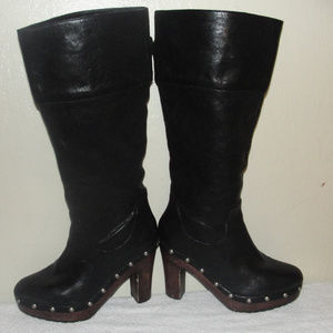 michael kors black leather boots size 7